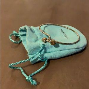 Tiffany & Co 18k Double Heart Interlock Bracelet